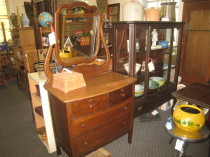 Oak dresser with mirror  $245( sold) we may have others similar