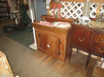 Early Pine Dry Sink $225