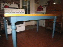 Rock Maple butcher block table  5FT x 3ft   (sold)