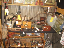 Old tools, and other cool items in the booth