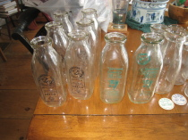 Variety of Milk Bottles