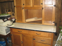 Oak Hoosier Cupboard
