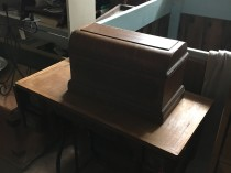 Treadle Oak Sewing Machine Wheeler